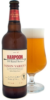 Saison Various from Harpoon Brewery is a unique blend of four beers
