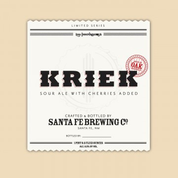 Santa Fe Brewing Company Kriek is fermented with Michigan cherries and sake yeast