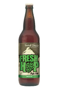 Great Divide Fresh Hop Pale Ale, one of our great Fall Beers