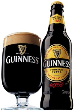 Guinness Foreign Extra Stout is 7.5 per cent ABV