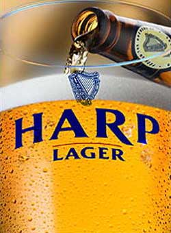 Harp Lager, one of our Top 10 Irish Beers