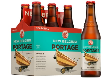 New Belgium Portage Porter, one of GAYOT's Top 10 Spring Beers