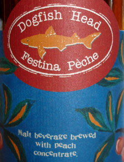 Dogfish Head Festina Peche, a sour peach beer on our list of the Top Summer Beers