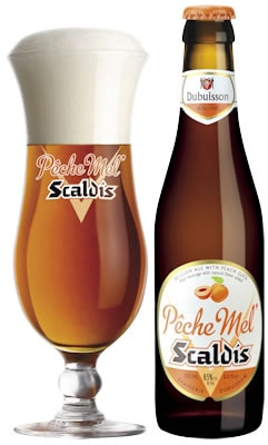 As you sip Brasserie Dubuisson Scaldis Peche Mel, the peach flavor bombards your taste buds