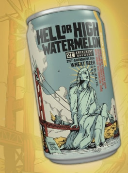 21st Amendment Hell or High Watermelon Wheat, one of our Top Summer Beers