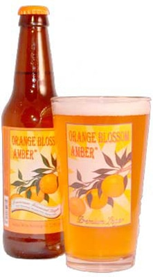 Indian Wells Brewing Company Orange Blossom Amber is not made with orange blossoms, but infused with orange peels