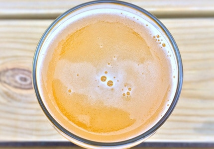 A tall, cool glass of beer for summertime