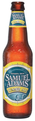 Samuel Adams Summer Ale is an American wheat ale that pours a slightly hazy golden color with a foamy white head