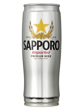 Sapporo Premium Draft Can Japanese Rice Lager, one of our Top Summer Beers