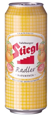 Stiegl Radler is a shandy made with 60 percent fruit soda and 40 percent Stiegl-Goldbrau