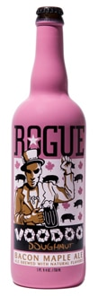 Rogue Voodoo Doughnut Bacon Maple Ale is made with Applewood Smoked Bacon