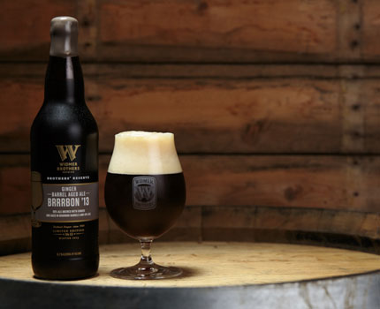 Widmer Brothers Ginger Barrel-Aged Brrrbon '13 offers fresh ginger flavor