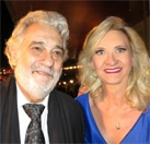 Maestro Plácido Domingo with Sophie Gayot