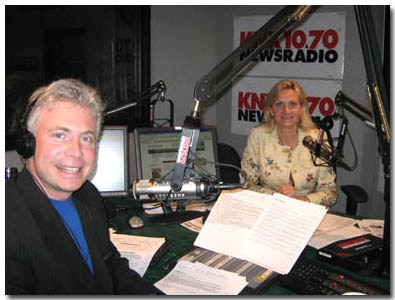 Frank Mottek and Sophie Gayot in the KNX studios