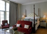A guest room at Dean Street Townhouse, one of our Top 10 Boutique Hotels in London