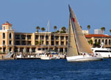 Sailing in Newport Beach, Orange County