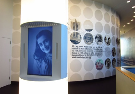 The Anne Frank exhibit at The Museum of Tolerance