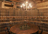 The wine cellar at Mattei's Tavern in Santa Barbara Wine Country
