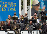 A band plays at the Yerba Buena Gardens Festival