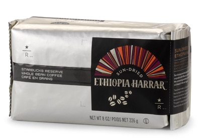 Starbucks Reserve Sun-Dried Ethiopia Harrar, one of a new range of limited-edition coffees
