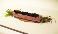 Caviar as served at Petrossian in Los Angeles