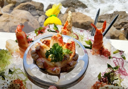 Enjoy a seafood tower at Mastro's Ocean Club in Malibu, one of the Best Seafood Restaurants in Los Angeles