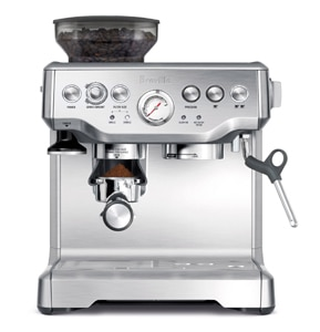 Breville's BES870XL Barista Express; a top-of-the-line espresso machine with a built-in burr grinder