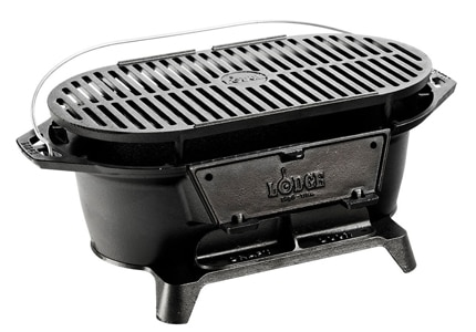 The Lodge L410 grill is a great hibachi when space is at a premium
