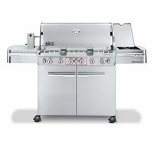 The top-of-the-line Weber Summit S-670 Stainless Steel Grill, one of GAYOT's Top 10 Barbecue Grills