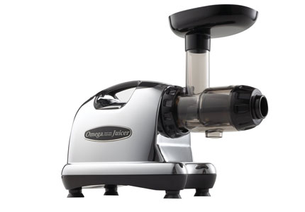 "A ""masticating style"" juicer, the Omega J8006 squeezes fruit instead of grinding it"