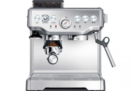 The Breville BES860XL Barista Express, one of GAYOT's Top 5 Espresso Makers