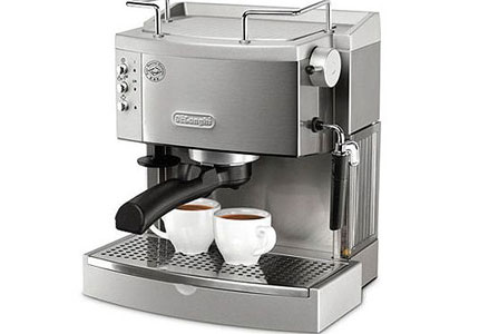 The sleek, Italian-made De'Longhi EC702 gives you the option of using pods or ground coffee