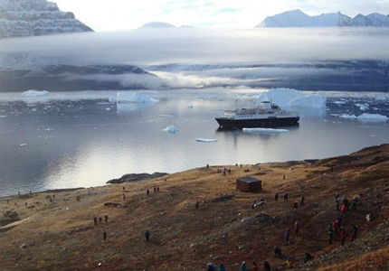 The Ocean Endeavor in Greenland