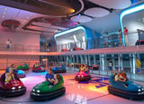 Bumper cars aboard one of Royal Caribbean's new Quantum ships