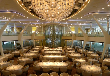 The Grand Epernay dining room on Celebrity Solstice