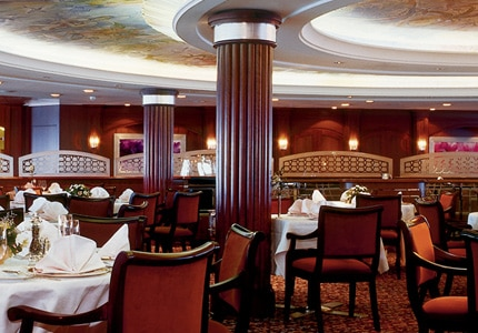 The Crystal Dining Room offers a Modern and Classic menu