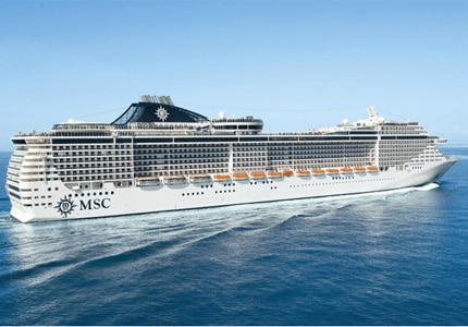 The MSC Fantasia ship, one of GAYOT's Top 10 Cruise Lines