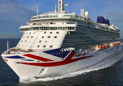 The MV Britannia, P&O Cruises' newest ship
