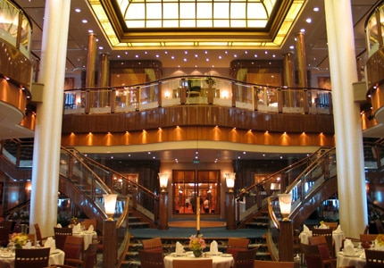Britannia restaurant aboard the Queen Mary 2