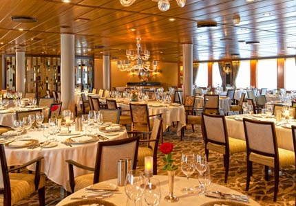 AmphorA restaurant aboard Windstar Cruises, one of GAYOT's Top 10 Cruise Lines for Specialty Dining