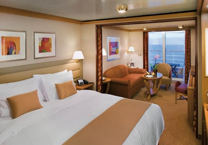 Enjoy the view of the Caribbean waters from a Veranda Suite on the Silver Spirit