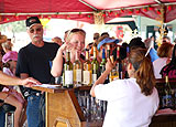 The Annual GrapeFest in Grapevine, Texas includes a GrapeStomp, Vintner's Auction and Texas Wine Tribute