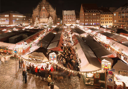 Celebrate an evening at the Nuremberg Christkindlesmarkt; photograph by Steffen Oliver Riese