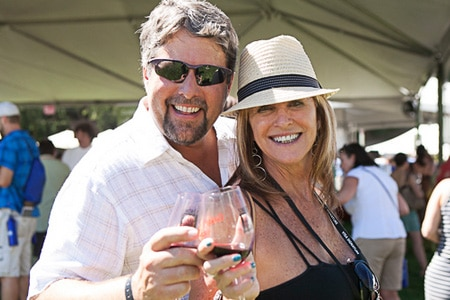 Guests enjoy wine and the outdoors at the Sonoma Wine Country Weekend in California