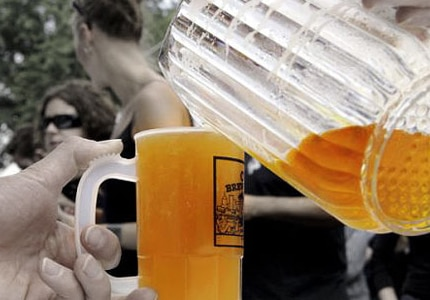 Craft beer is poured at the Oregon Brewers Festival in Portland