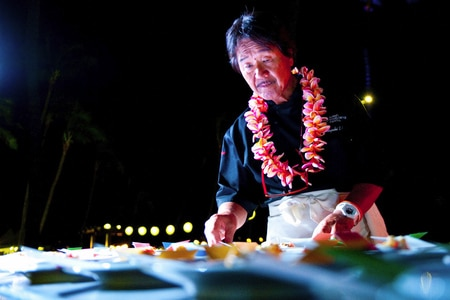 Go on a culinary adventure in a tropical paradise at the Hawaii Food and Wine Festival!