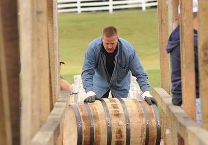 The Bourbon Barrel Relay at the Kentucky Bourbon Festival in Bardstown