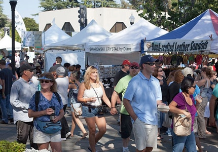 Mountain View hosts an annual art and wine festival in September