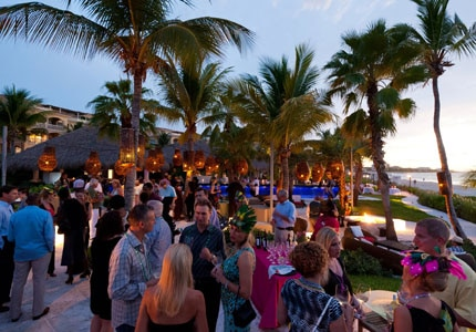 Guests enjoy Caribbean culture and cuisine at the Caribbean Food & Wine Festival in Turks & Caicos