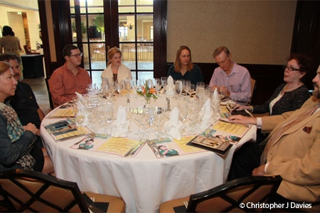 Guests gather to dine at the Denver International Wine Festival